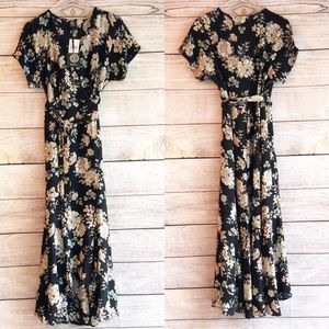 NWT Bobeau Floral Wrap Dress